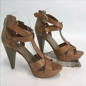 Guess Brand Brown Platform Heels Size 8